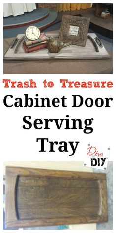 How To Make a Serving Tray from a Old Cabinet Door