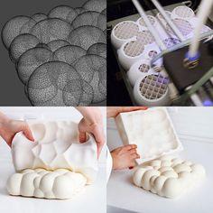 Voronoi based pastry by Dinara Kasko