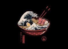 Shop for Noir Gallery Ramen Wave Japanese Culture Unframed Art Print/Poster. Get free delivery On EVERYTHING* Overstock - Your Online Art Gallery Store! Japan Illustration, Simple Illustration, Design Illustrations, Fantasy Illustration, Graphic Design Illustration, Watercolor Illustration, Grafik Art, Doodle Art, Art Asiatique