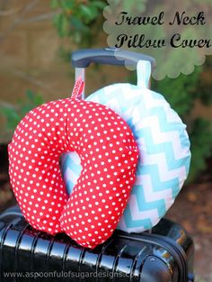 Travel Neck Pillow Cover - A Spoonful of Sugar