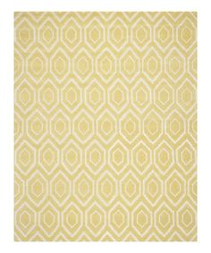 Another great find on #zulily! Light Gold & Ivory Teardrop Elsa Wool Rug #zulilyfinds