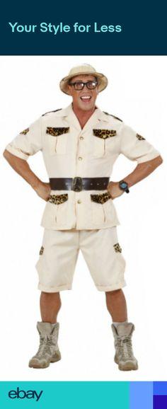 Mens Safari Costume Australian Outback African Explorer Fancy Dress Costume ef76d906a19
