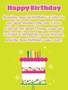 Happy Birthday Card For Mother