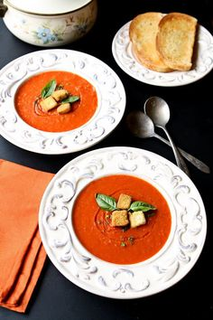 Tomato Soup for Two   This delicious homemade tomato soup is well-portioned for two. In just 30 minutes, you will have a tasty, light and comforting lunch!   heavenlyhomecooking.com