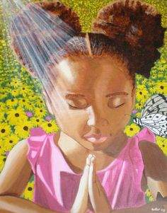 Embracing our natural hair allows us to enjoy the elements of nature without any worries...or second thoughts.  This image is the essence of self acceptance that all little Black girls should be instilled with.