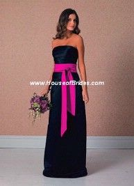 Black and Hot Pink - Can be used as a wedding dress or bridesmaid dress depending on your style