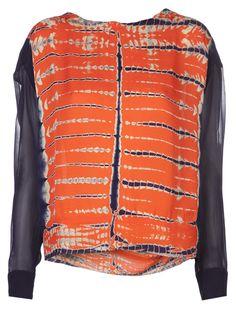 shibori shirts women's   Raquel Allegra women's shibori dye top