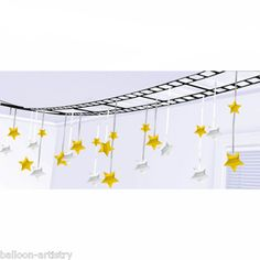 Hollywood Movie Film Reel Gold Silver Stars Party Decoration