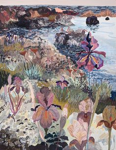 Irises and Distant Pelicans - more amazing work from Michelle Morin.