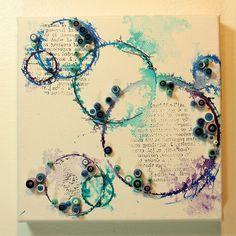 mixed media quilling art- Anjuli Johnson