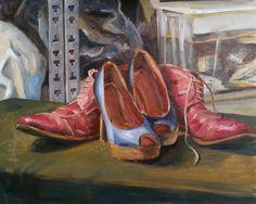 #Schilderij 'Happy Feet' van Manuel Boonzaaijer is te koop via #Kunstmarktplaats.nl. #kunst #art #realisme #HappyFeet #schoenen #pumps http://kunstmarktplaats.nl/ads/stilleven-met-schoenen/