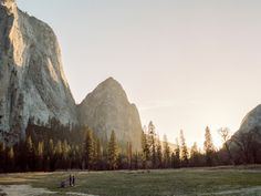 eartheld:  taylormccutchan:  A couple of folks picnicking in the valley at sunset. This place was incredible. Probably still is! Pentax 645, 45mm, Portra 400  mostly nature