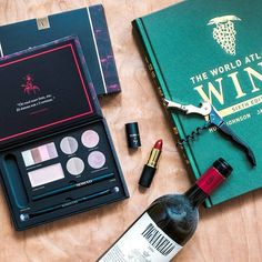 Girl's two best friends: makeup and wine 😀🍷…