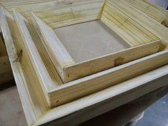 wood drop mold frames