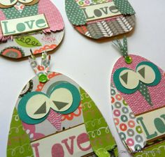 Mary Gunn FUNN - Owl cards / Lollydoodle paper from Close To My Heart
