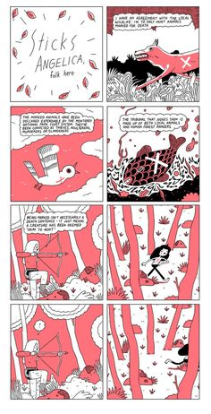 """"""" Sticks Angelica """" by Michael DeForge- this is weird, but the idea is interesting"""