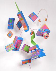 BACK TO BASICS, ZIM & ZOU  french designer's fabulous retro-tech origami-fest...