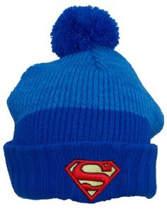 c8063bf98ff DC Comics Superman Adult Cuffed Winter Hat with 3 1 2