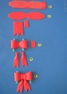How to....bows | Flickr - Photo Sharing!. Fondant bows for cake, cupcake and cookie decorating