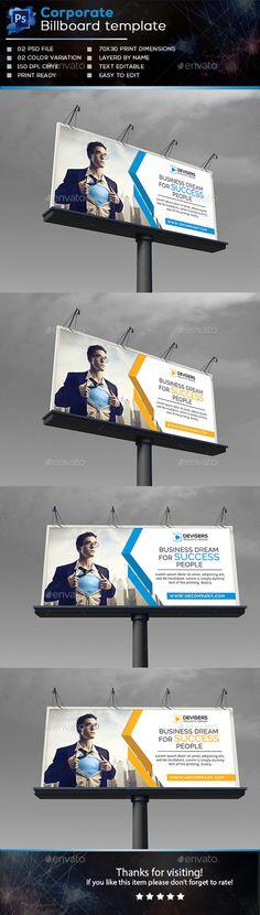 Corporate Billboard Template PSD #ads #promotion