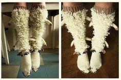 Schafe handgemachte Socken Socken Hand stricken von mymomsshop1