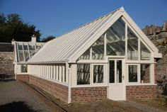 Timber greenhouse Green Houses, Conservatories, Garden Sheds, Staircases, Joinery, Irish, Home Improvement, Porch, Design Ideas