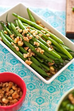 Green Beans with Toasted Walnuts and Quinoa Recipe | FamilyFreshCooking.com © MarlaMeridith.com