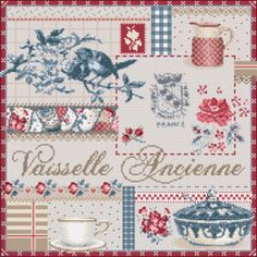 SoCreaStitch, the French stitching touch, where to find French cross stitch patterns and kits, exquisite embellishments for any stitch work and stitch accessories Cross Stitch Pillow, Cross Stitch Charts, Cross Stitch Designs, Cross Stitch Patterns, Cross Stitching, Cross Stitch Embroidery, Cross Stitch Kitchen, Le Point, Needlepoint