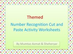 Number 1-10 Recognition Cut & Paste Activity Worksheets with 7 Themes.These cut and paste worksheets help  beginners to develop their fine motor skills. These worksheets help kids cut and paste numbers in the correct order. These colorful worksheets attract preschoolers and they learn numbers in fun way.Following themes are included:summer ThemeWinter ThemeFall ThemeSpring ThemeThanksgiving ThemeHalloween ThemeChristmas ThemeNote: If you have any question or want to any changes kindly wr...
