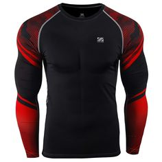 zipravs MMA Compression Tight Shirt Longsleeve Running Baselayer -- Visit the image link more details. (This is an affiliate link) Womens Workout Outfits, Sport Outfits, Compression T Shirt, What To Wear Today, Sports Shirts, Sports Jerseys, Men Shirts, Mens Activewear, Outdoor Outfit
