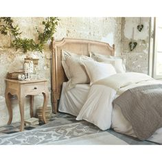 Mango Wood and Acacia Bedside Table with Colette Decor, Home, Home Bedroom, Bedroom Layouts, Furniture, Dreamy Bedrooms, Bedroom Decor, Small Bedroom, Home Deco