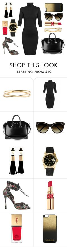 """""""Untitled #302"""" by omgitskaylapope ❤ liked on Polyvore featuring Nadri, Undress, Givenchy, Chloé, Rolex, Tabitha Simmons, Yves Saint Laurent and MICHAEL Michael Kors"""