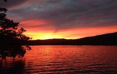 sunset over lake george