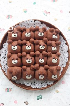 Bear Cartoon Character Bread Buns 小熊小面包