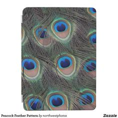 Peacock Feather Pattern iPad Air Cover