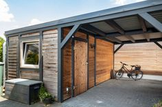 Carport, Vordach, Terrasse oder Gartenhaus - Contract-Vario Carport aus Holz mit angebautem Schuppen Captivating Fence Design Ideas That You Can Try - A spacious and.