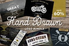 Check out Hand Drawn Logo Bundle by Vintage Design Co. on Creative Market