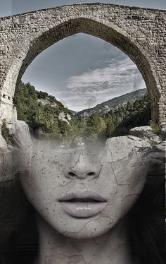 Beautifully Surreal Portrait Series Blended into Landscape Photos by Antonio Mora. Spanish artist Antonio Mora specializes in creating dream-like Double Exposure Photography, Art Photography, Aerial Photography, Night Photography, Landscape Photography, Photomontage, Multiple Exposure, Wow Art, Surreal Art