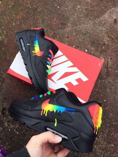 really like this nike air max 90 candy drip rainbow, distinctive personality!i really like this nike air max 90 candy drip rainbow, distinctive personality! Sneakers Fashion, Fashion Shoes, Sneakers Nike, Nike Trainers, Fashion Outfits, Air Max 90, Souliers Nike, Hype Shoes, Cheap Nike Air Max