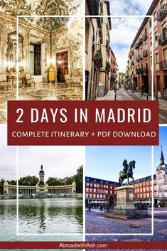 Wondering what to do in Madrid and only have a few days? I've got you covered with my 2 days in Madrid Itinerary. Discover the top Madrid attractions, sights, where to go, what to do, and the best order to see them in! Madrid Attractions, Travel Advice, Travel Plan, Travel Guides, Travel Tips, Amazing Destinations, Travel Destinations, Madrid Guide, Travel Around The World