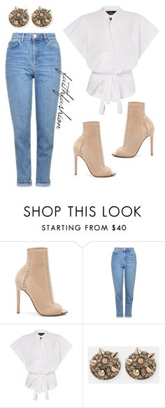 """Untitled #308"" by faithfashionash on Polyvore featuring Gianvito Rossi, Topshop and Lady Fox"