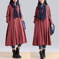 * Season: autumn, winter  * Material: cotton and linen blend      *·.♥.·*´¨¨*·.♥.·*´¨¨*·.♥.·*´¨¨*·.♥.·*´¨¨*·.♥.·*´¨¨*·.♥.·*