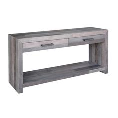 Kosas Home Handcrafted Oscar Distressed Charcoal Recovered Shipping Pallets…