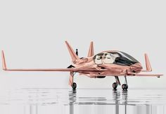 the cobalt valkyrie-X is the fastest airplane in its category, with the ability to travel at speeds up to 260 knots, an impresses with a rose gold finish.