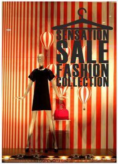 Clothes Hanger Sale Shop Window decal by cutnpasteshop