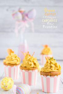 Vegan Carrot & Ginger Yogurt Cupcakes