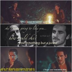 """David and Hook talking about Emma. OUAT Once Upon a Time. """"I'm not so sure her parents approve of me."""""""