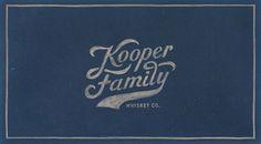 Kooper Family Whiskey on Packaging Design Served
