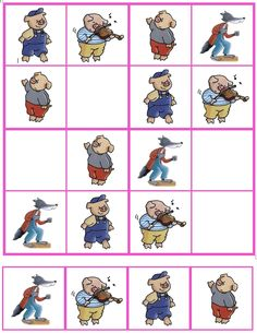 Sudoku De 3 biggetjes (06) Card Games For Kids, Three Little Pigs, Bad Wolf, Worksheets For Kids, Conte, Coloring For Kids, Something To Do, Fairy Tales, Preschool