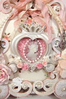 ILuvVintageScrap: Shabby Chic Princess Carriage Mini Album